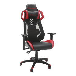 Respawn 200 Racing-Style Bonded Leather Gaming Chair, Red/Black