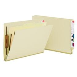 Smead® Manila Classification Folders, 1 Divider, Letter Size, Box Of 10