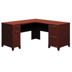 """Bush Business Furniture Enterprise L Shaped Desk, 60""""W, Harvest Cherry, Standard Delivery"""