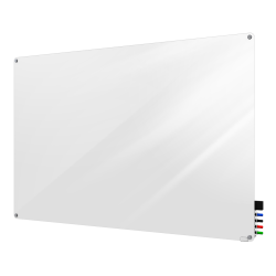 """Ghent Harmony Magnetic Glass Dry-Erase Board, 24"""" x 36"""", White"""