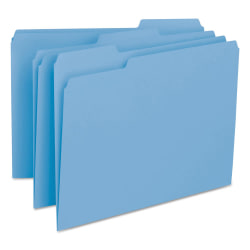 Smead® Interior Folders, Letter Size, Blue, Box Of 100