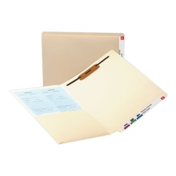 Smead® End-Tab Pocket Folders With Fastener, Letter Size, Manila, Box Of 50