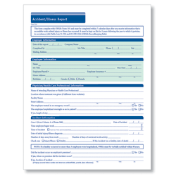 "ComplyRight Accident/Illness Reports, 8 1/2"" x 11"", Pack Of 25"