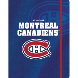 """Lang 17-Month Turner Licensing Sports Monthly Planner, 7-3/8"""" x 9-3/4"""", Montreal Canadians, August 2020 To December 2021"""