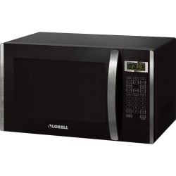 Lorell 1.6 cu ft Microwave - Single - 11.97 gal Capacity - Microwave - 11 Power Levels - Metal - Countertop - Black, Silver