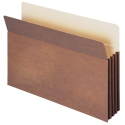 """Smead® TUFF® Pocket File Pockets, 3 1/2"""" Expansion, 9 1/2"""" x 14 3/4"""", 30% Recycled, Dark Brown, Pack Of 10"""