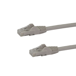 StarTech.com 5 ft Gray Gigabit Snagless RJ45 UTP Cat6 Patch Cable - 5ft Patch Cord - 1 x RJ-45 Male Network - 1 x RJ-45 Male Network - Gold-plated Contacts - Gray