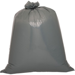 """Genuine Joe Maximum Strength Trash Can Liner - 60 gal - 39"""" Width x 56"""" Length x 1.55 mil (39 Micron) Thickness - Low Density - Gray - Plastic Resin - 4800/Pallet - Food Waste, Office Waste, Can, Debris"""