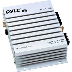 Pyle Hydra PLMRA120 Marine Amplifier - 140 W RMS - 240 W PMPO - 2 Channel - Class A - 8 Ohm - 80 dB SNR - 0.1% THD - 20 Hz to 30 kHz