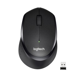 Logitech® M330 Silent Plus Wireless Mouse, Black, 910-004905
