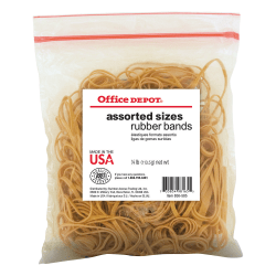 Office Depot® Brand Rubber Bands, #54, Assorted Sizes, 1/4 Lb. Bag