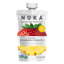 NOKA Single-Serve Superfood Smoothies, Strawberry Pineapple, 4.22 Oz, Pack Of 12 Smoothies