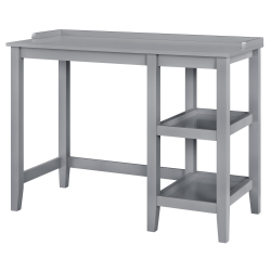 Ameriwood™ Home Eleanor Single Pedestal Desk, Gray