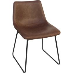 Lorell® Mid-Century Modern Sled Guest Chair, Tan