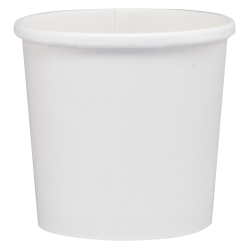 "Dart® Flexstyle® Double Poly Paper Containers, 3 5/8"", 0.375 Qt, White, 25 Containers Per Bag, Carton Of 20 Bags"