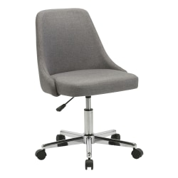 Lorell® Resi Fabric Low-Back Armless Task Chair, Gray