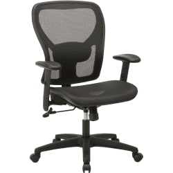 Lorell® SOHO Mesh Mid-Back Task Chair, Black