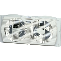 """Holmes® 7"""" 2-Speed Twin Window Fan with Reversible Air Flow Control, White"""