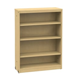 Office Stor Plus Bookcase, 5-Shelf, Fusion Maple