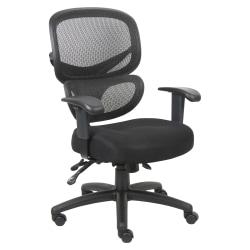 Lorell® Contemporary Mesh/Fabric High-Back Chair, Black