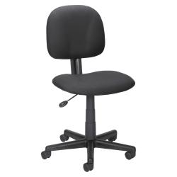 Lorell® Mid-Back Multi-Task Fabric Chair, Black
