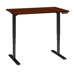 "Bush Business Furniture Move 80 Series 48""W x 30""D Height Adjustable Standing Desk, Hansen Cherry/Black Base, Standard Delivery"