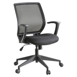 Lorell® Mesh Mid-Back Office Chair, Black