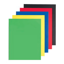 "Office Depot® Brand Poster Boards, 22"" x 28"", Assorted Primary Colors, Pack Of 5"