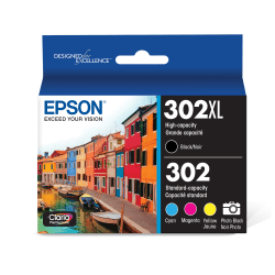Epson® T302XL-BCS High-Yield Multicolor Ink Cartridge