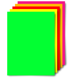 """Office Depot® Brand Fluorescent Poster Boards, 11"""" x 14"""", Assorted Fluorescent Colors, Pack Of 5"""
