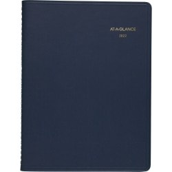"""AT-A-GLANCE® 13-Month Weekly Planner, 8-1/4"""" x 11"""", Navy, January 2022 To January 2023, 7095020"""