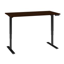 "Bush Business Furniture Move 80 Series 60""W x 30""D Height Adjustable Standing Desk, Mocha Cherry/Black Base, Premium Installation"