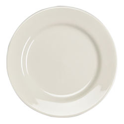 """QM Anchor Dinner Plates, 10"""", White, Pack Of 24 Plates"""