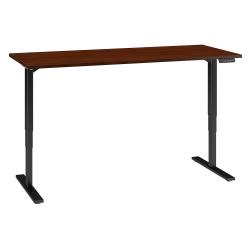 "Bush Business Furniture Move 80 Series 72""W x 30""D Height Adjustable Standing Desk, Hansen Cherry/Black Base, Standard Delivery"