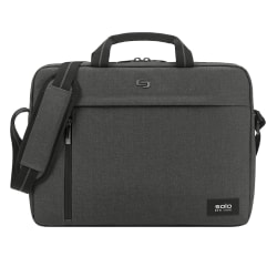 "Solo® Rivington Slim Briefcase With 15.6"" Laptop Pocket, Gray"