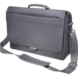 "Kensington K62623WW Carrying Case (Messenger) for 10"" to 14.4"" Ultrabook - Cool Gray - Damage Resistant, Bump Resistant, Drop Resistant - Shoulder Strap, Handle - 11.5"" Height x 16"" Width x 4.5"" Depth"