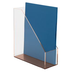 Realspace® Rose Gold Acrylic Magazine File Holder