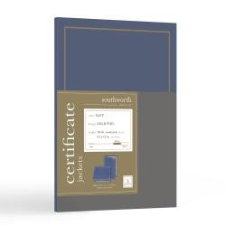 Southworth® Certificate Jackets, Navy/Gold Foil Border, Pack Of 5