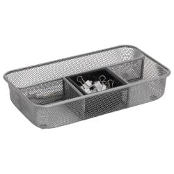 Brenton Studio® Silver Mesh Drawer Organizer