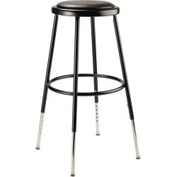 National Public Seating 6400 Adjustable Vinyl Task Stool, Black Seat/Black Frame, Quantity: 1