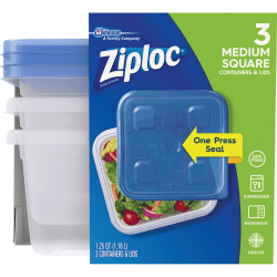Ziploc® Food Storage Container Set - Food Container - Clear - 18 Piece(s) / Carton