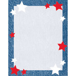 "Gartner™ Studios Design Paper, 8 1/2"" x 11"", 60 Lb, Star Blue Border, Pack Of 100 Sheets"
