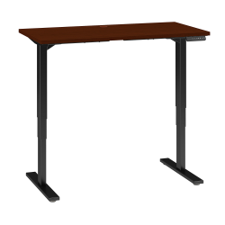 "Bush Business Furniture Move 80 Series 48""W x 24""D Height Adjustable Standing Desk, Hansen Cherry/Black Base, Standard Delivery"