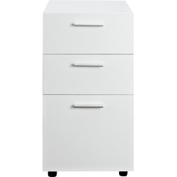 "Ameriwood™ Home Princeton 17""D Vertical 3-Drawer Mobile File Cabinet, White"