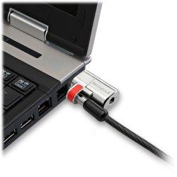 "Kensington® ClickSafe® Keyed Laptop Cable Lock, 5"" Cord, Black/Red, K64637WW"