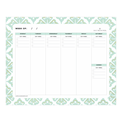 """Day Designer Lovely Morning Planning Pad, 10"""" x 8"""", College Ruled, 80 Pages, Multicolor"""