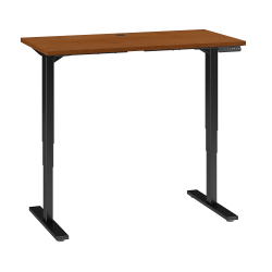"Bush Business Furniture Move 80 Series 48""W x 24""D Height Adjustable Standing Desk, Natural Cherry/Black Base, Standard Delivery"