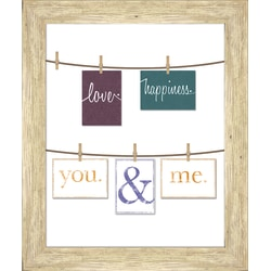 """PTM Images Photo Frame, You And Me, 23""""H x 1 3/4""""W x 27""""D, White"""