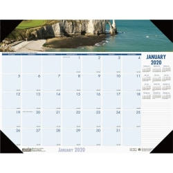 "House of Doolittle EarthScapes Coastlines Desk Pad - Julian Dates - Monthly - 1 Year - January 2021 till December 2021 - 1 Month Single Page Layout - 22"" x 17"" Sheet Size - 2.38"" x 2.13"" Block - Desk Pad - White"