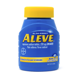 Aleve® All Day Strong Naproxen Sodium, 220mg, Bottle Of 320 Tablets
